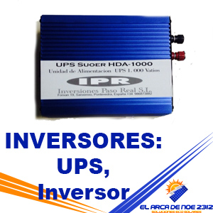 INVERSORES: UPS, Inversor Cargador, Hibrido.